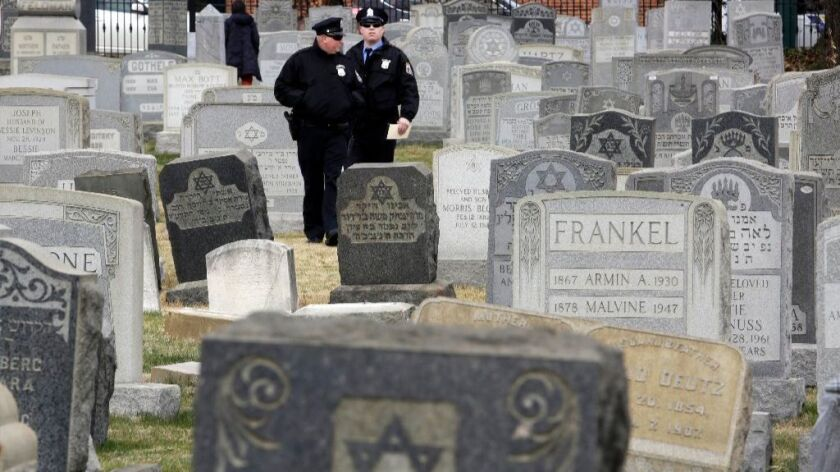 More than 100 headstones have been vandalized at the Jewish cemetery in Philadelphia