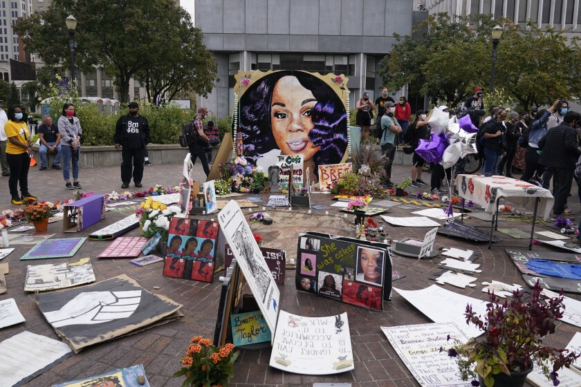 A street memorial to Breonna Taylor in Louisville, Ky., on Sept. 23.
