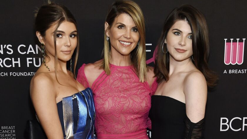 Actress Lori Loughlin and daughters Olivia Jade Giannulli, left, and Isabella Rose Giannulli.