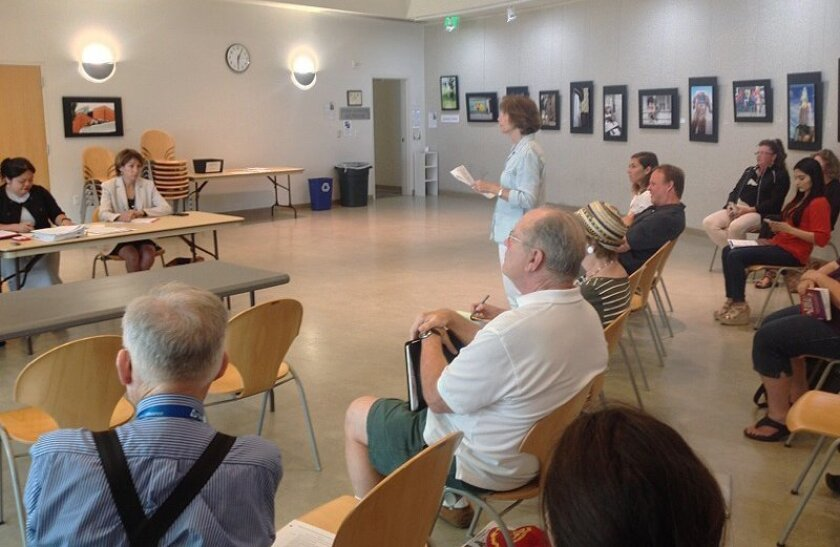 A scoping meeting to allow public comment on a draft environmental report for the Spectrum Act amendments was held Aug. 12 at Mission Valley Library.