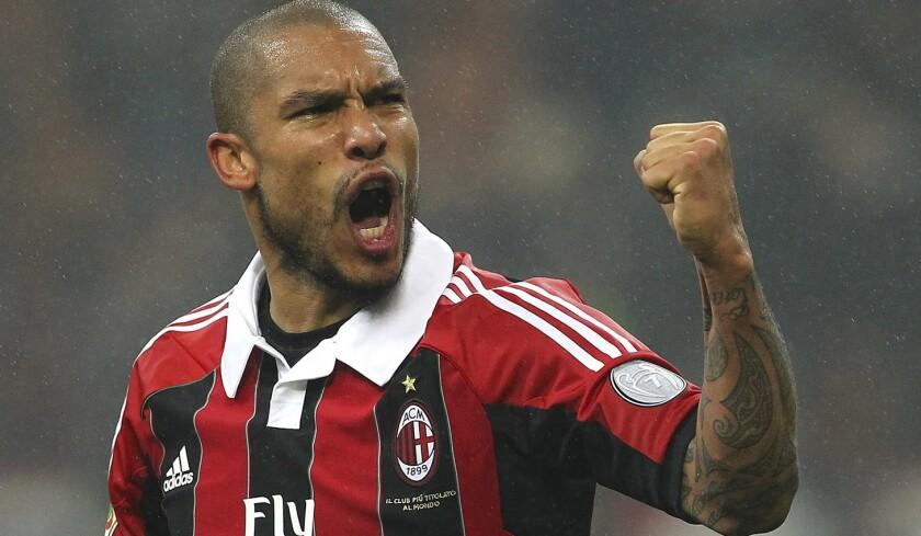 Nigel De Jong, cuando era jugador del Milán.