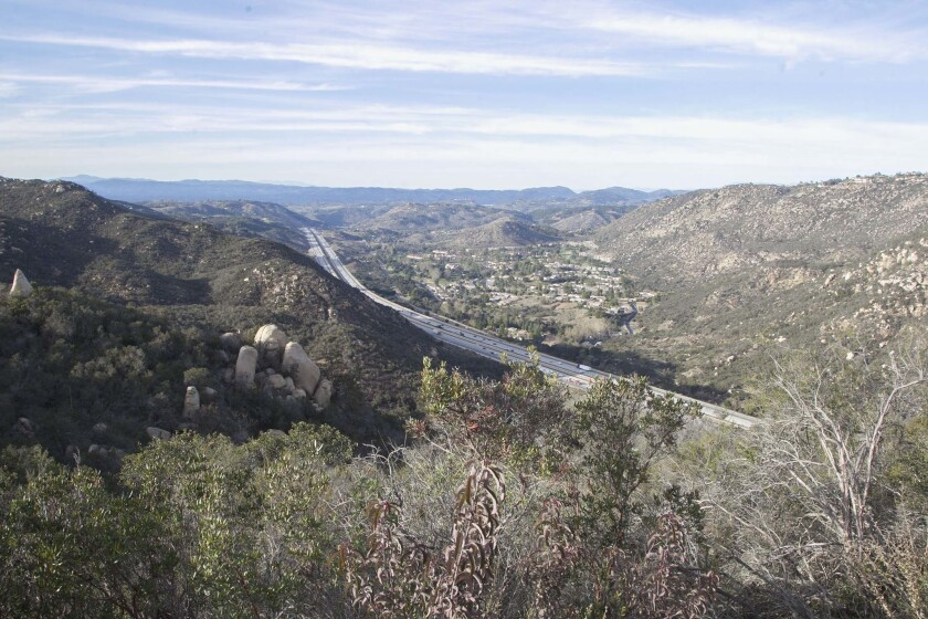 The 1,800 acres of the proposed Newland Sierra development project in the Twin Oaks area north of Escondido.