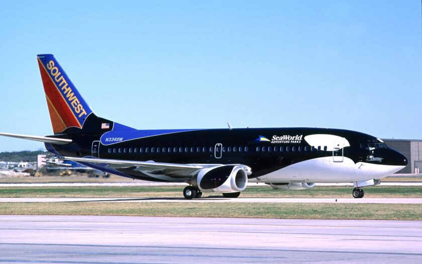 Southwest has two Shamu planes and one decorated with a SeaWorld penguin, which will be replaced with the traditional Southwest logos.