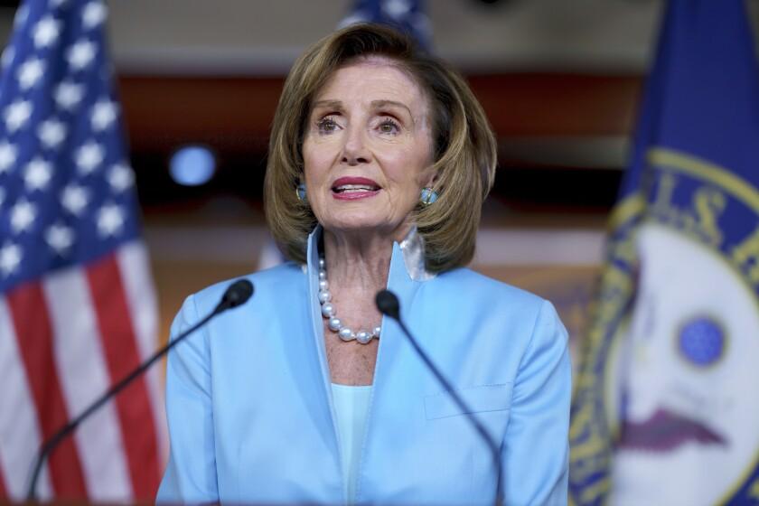 Speaker of the House Nancy Pelosi, D-Calif.,