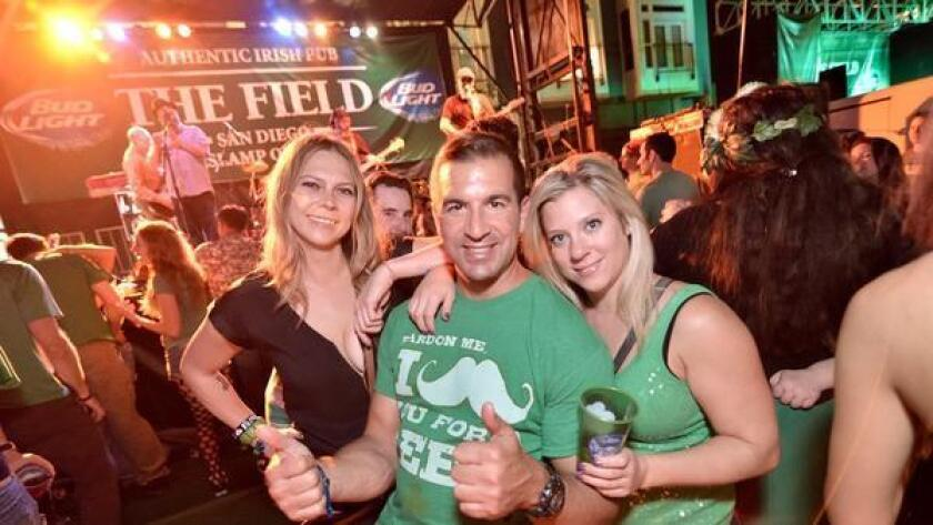Party in the Gaslamp as it transforms into a green AstroTurf wonderland of St. Patrick's Day fun. Experience live entertainment from DJs, Irish rock bands and Irish dancers.(Jesse Arroyo)