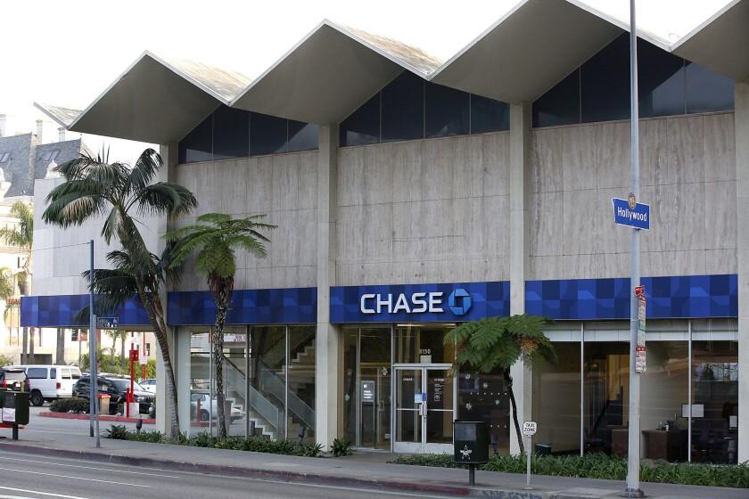 HOLLYWOOD, CA., NOVEMBER 13, 2016-- the Chase Bank at 8150 sunset was declared a Los Angeles histori