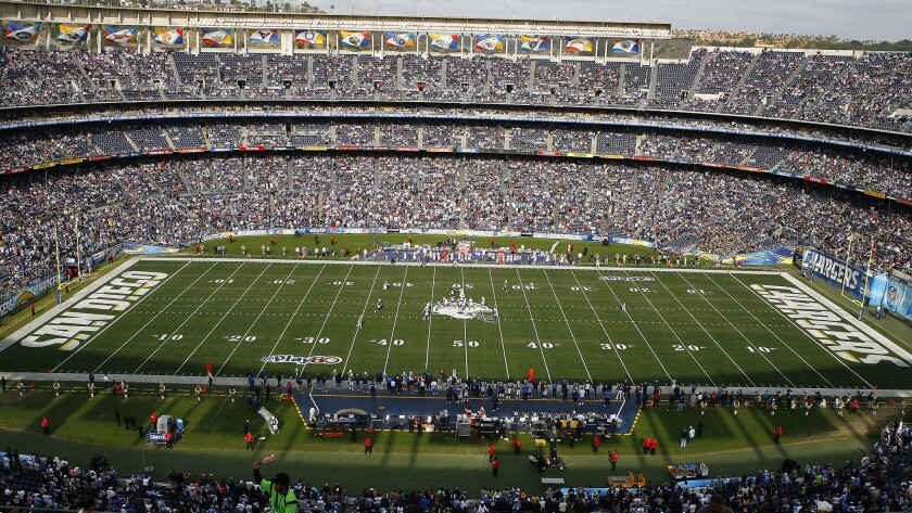 The San Diego Chargers have the option of terminating their lease agreement with Qualcomm Stadium next year.