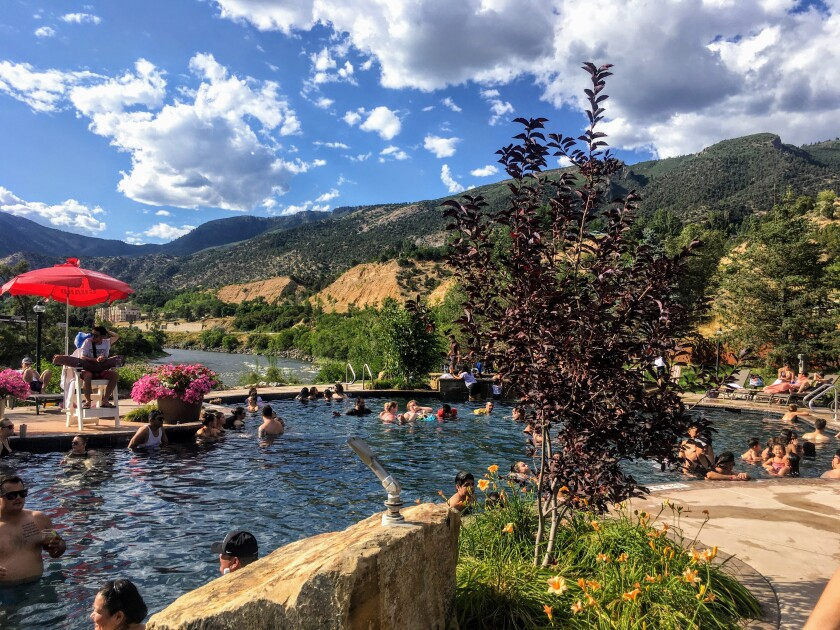 Iron Mountain Hot Springs in Glenwood Springs, Colo., is situated alongside the Colorado River.