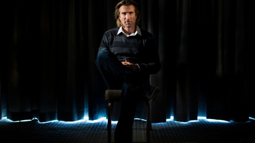 BEVERLY HILLS CA - APRIL 14, 2017: South African actor Sharlto Copley, who starred in the man-turned