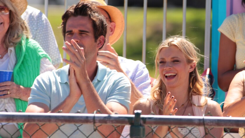 "David Walton stars as Darren and Amy Smart as Heather in the film ""Break Point."""