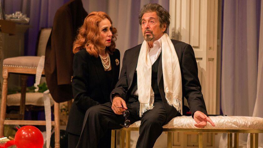 Judith Light and Al Pacino on the Pasadena Playhouse stage.
