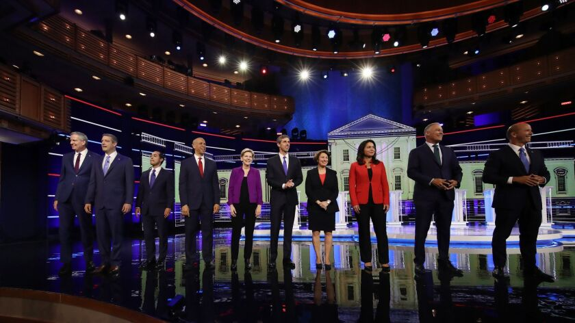 ***BESTPIX*** Democratic Presidential Candidates Participate In First Debate Of 2020 Election Over Two Nights