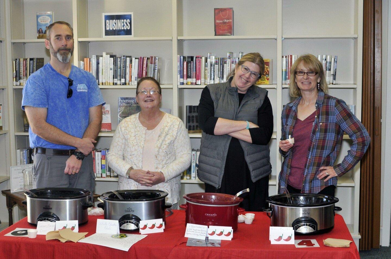 Chili chefs Rick Durant, Mary Payne, Sara Joseph and Merri Kelley