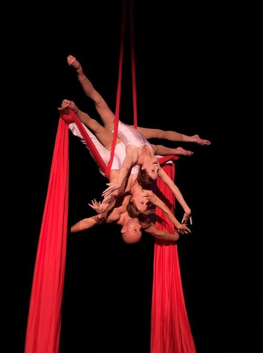 """A scene from """"Save My Soul,"""" an aerial dance theater piece that won the Best of Fringe award at the 2015 San Diego International Fringe Festival this week."""