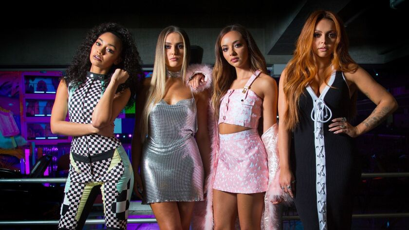 Leigh-Anne Pinnock, from left, Perrie Edwards, Jade Thirlwall and Jesy Nelson of the British girl group Little Mix.