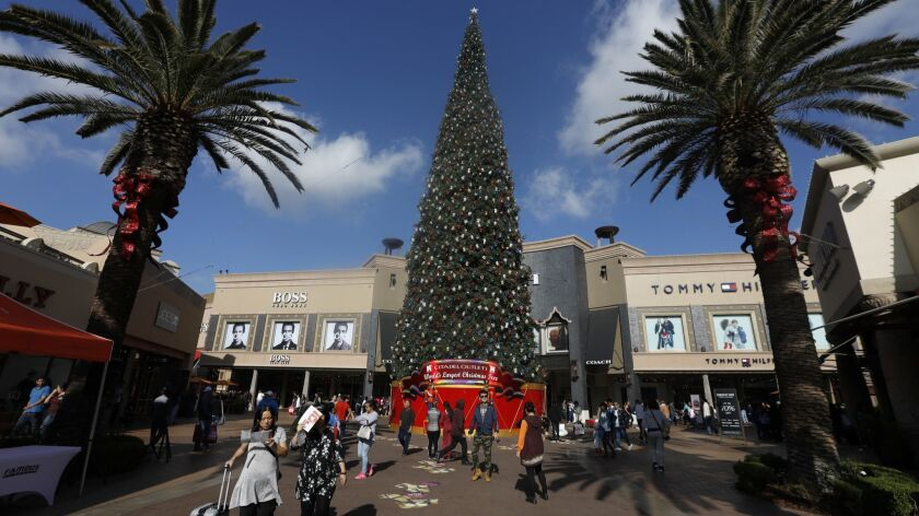 The Citadel Outlets in Commerce had long lines for Black Friday shopping.