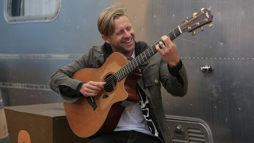 Jon Foreman, lead singer of Switch at the new Bro Am Studios set to open in July in Encinitas. The studio will provide guitar and piano lessons and contains a performance stage so young artists have the opportunity to play in front of an audience. (/ David Brooks)