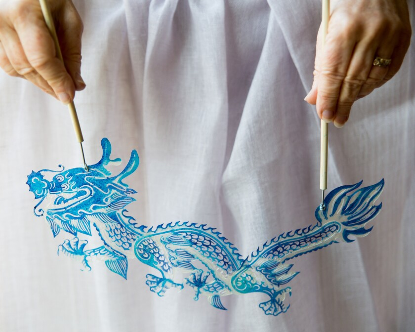 BERKELEY, CA ? DECEMBER 12, 2018 ? Even though I painted this dragon puppet two years ago, when I br