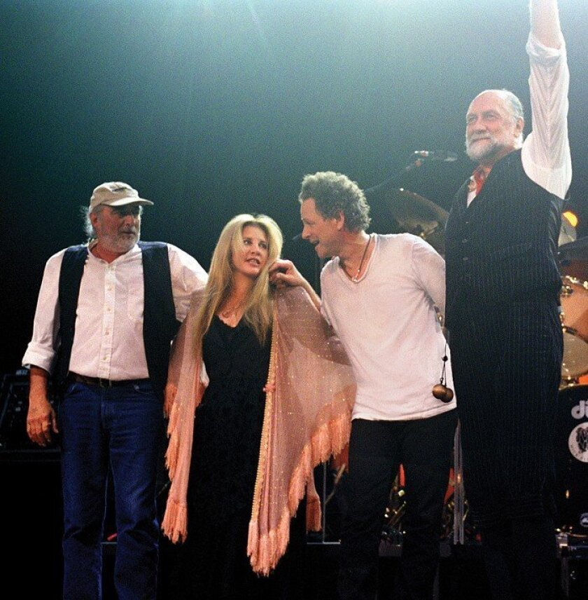 The tensions between Fleetwood Mac's members have made the band soar – and nearly implode – over the years. From left are bassist John McVie, singer Stevie Nicks, guitarist-singer Lindsey Buckingham and drummer Mick Fleetwood.