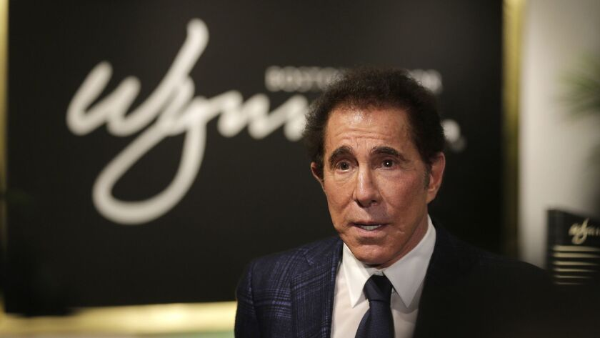 Steve Wynn at a March 2016 news conference in Medford, Mass. The former Wynn Resorts chief executive may sell his entire stake in the gaming company, according to a securities filing.