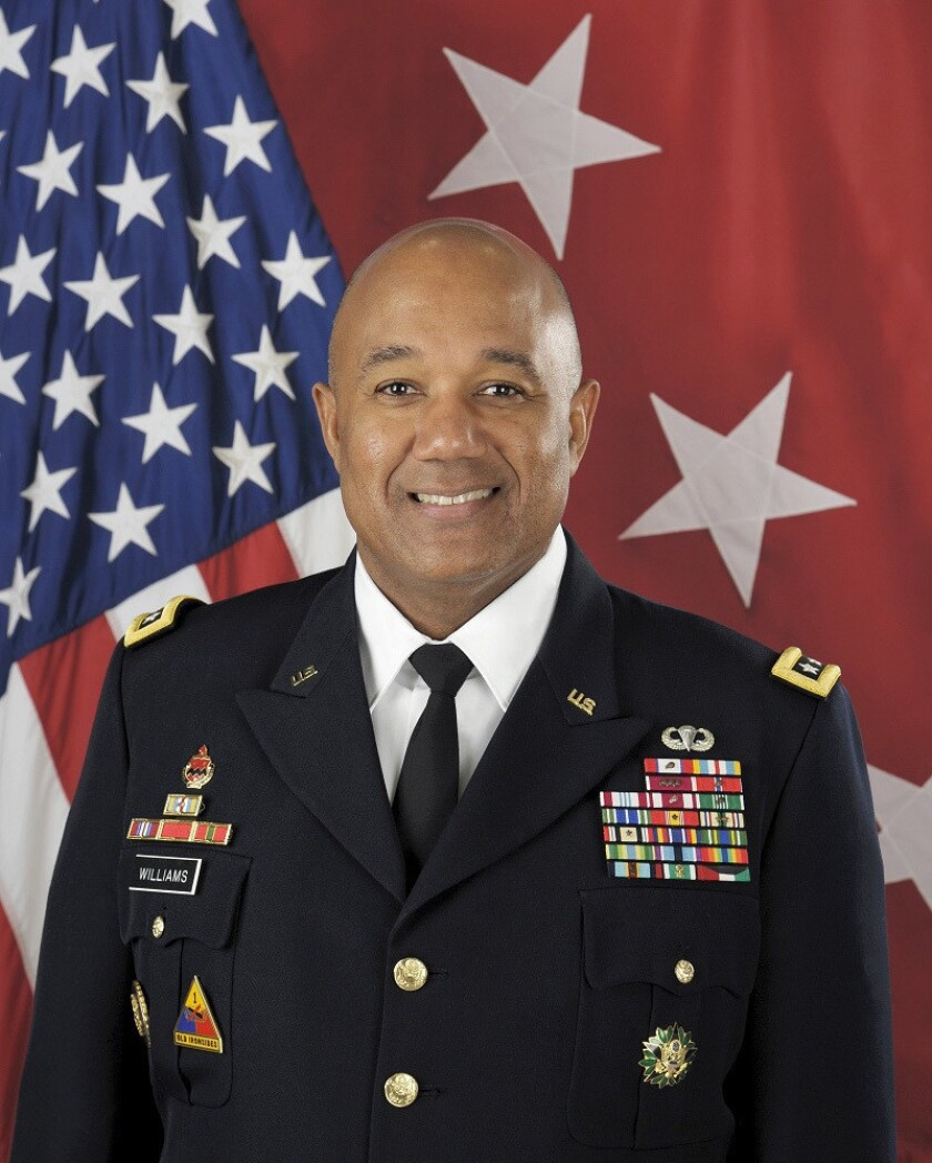 Lt. Gen. Darryl A. Williams, a 1983 U.S. Military Academy graduate with high-ranking Army posts in Europe and Asia, will become the first black officer to command West Point in its 216-year history, academy officials announced Friday.