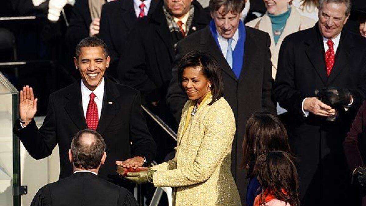 PHOTOS: The inauguration of Barack Obama - Los Angeles Times