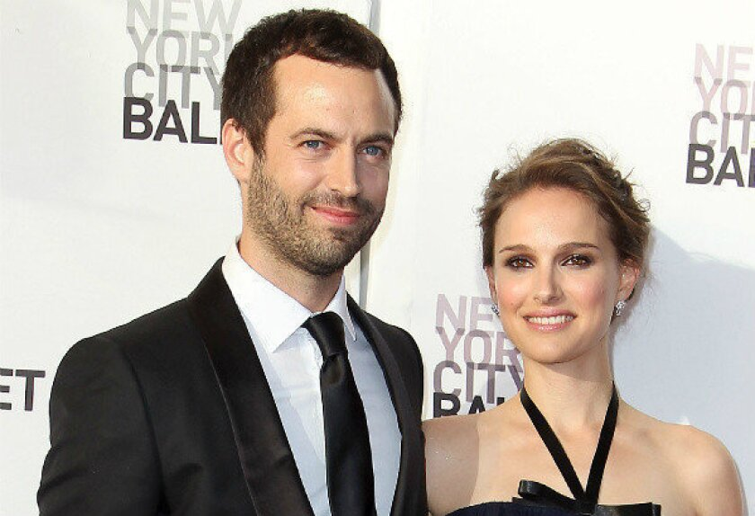 Benjamin Millepied and Natalie Portman at New York City Ballet's 2012 Spring Gala performance in New York, in May.