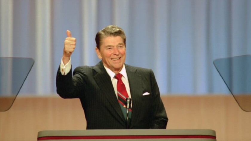 Still of Ronald Reagan in the documentary movie, The Reagan Show. Credit: Gravitas Ventures