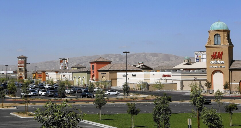 Tejon Ranch Co.'s Outlets at Tejon Ranch along Interstate 5 opened in August as a 320,000-square-foot outdoor shopping center. The Outlets has more than 70 retailers on 43 acres of land.