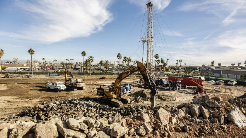 THIS MAY BE A DAILY The sprawling Seaport Marina Hotel in Long Beach is being razed to make way for