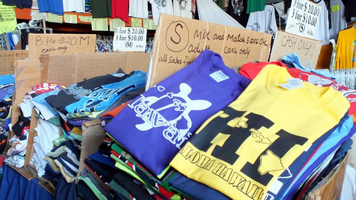 Here's an insider secret: a bargain T-shirt shop in Honolulu