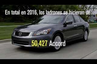 Los vehículos más robados en 2016