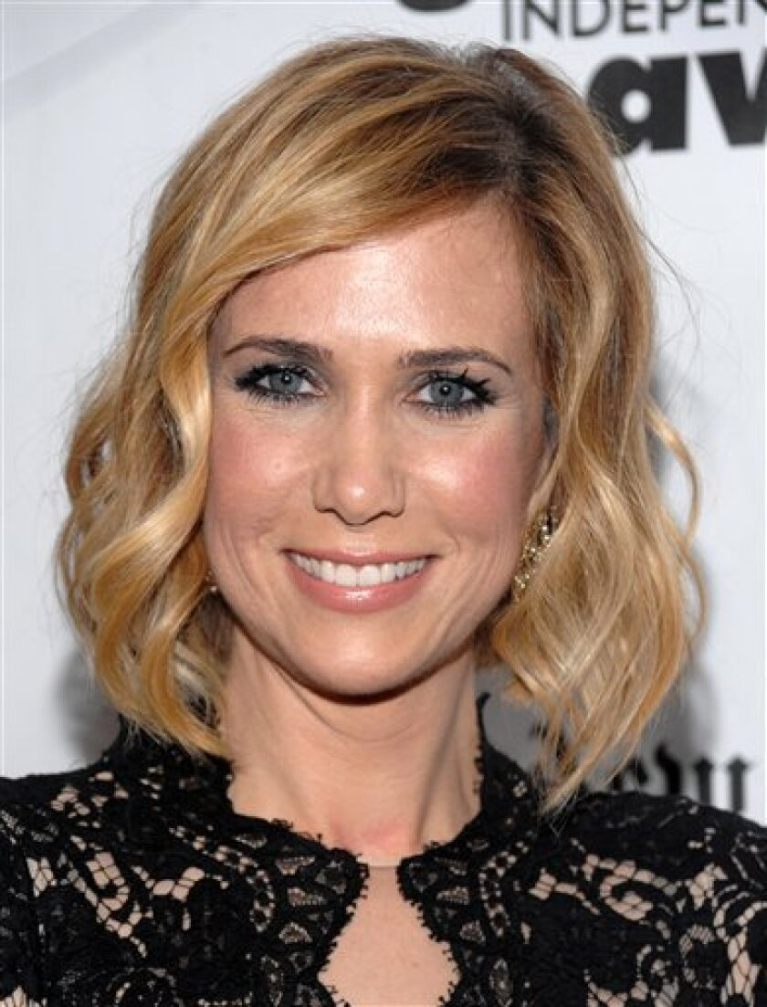 FILE - In this Nov. 30, 2009 file photo, actress Kristen Wiig attends IFC's 19th Annual Gotham Independent Film Awards at Cipriani's Wall Street in New York. (AP Photo/Evan Agostini, file)