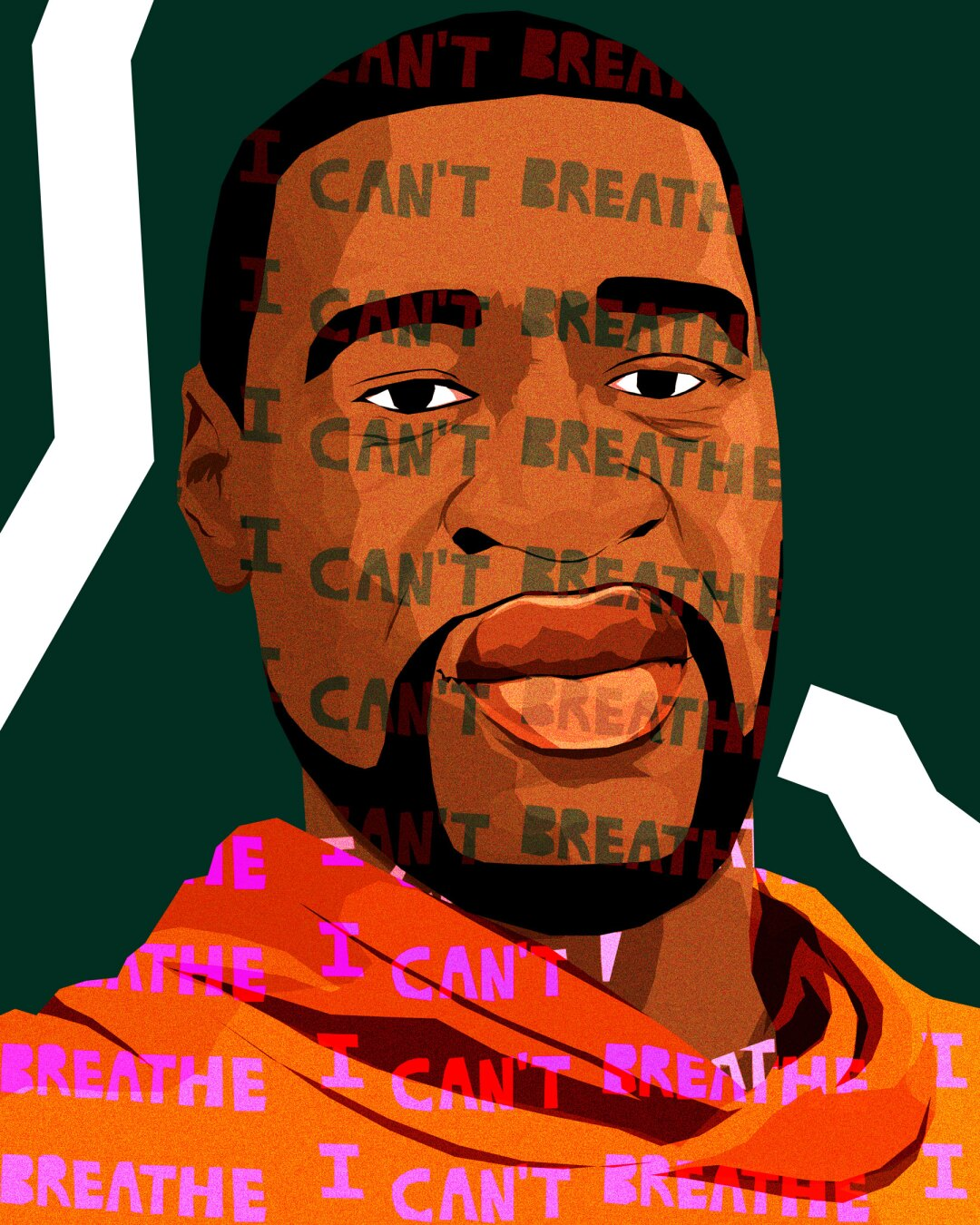 Black lives matter illustration of George Floyd