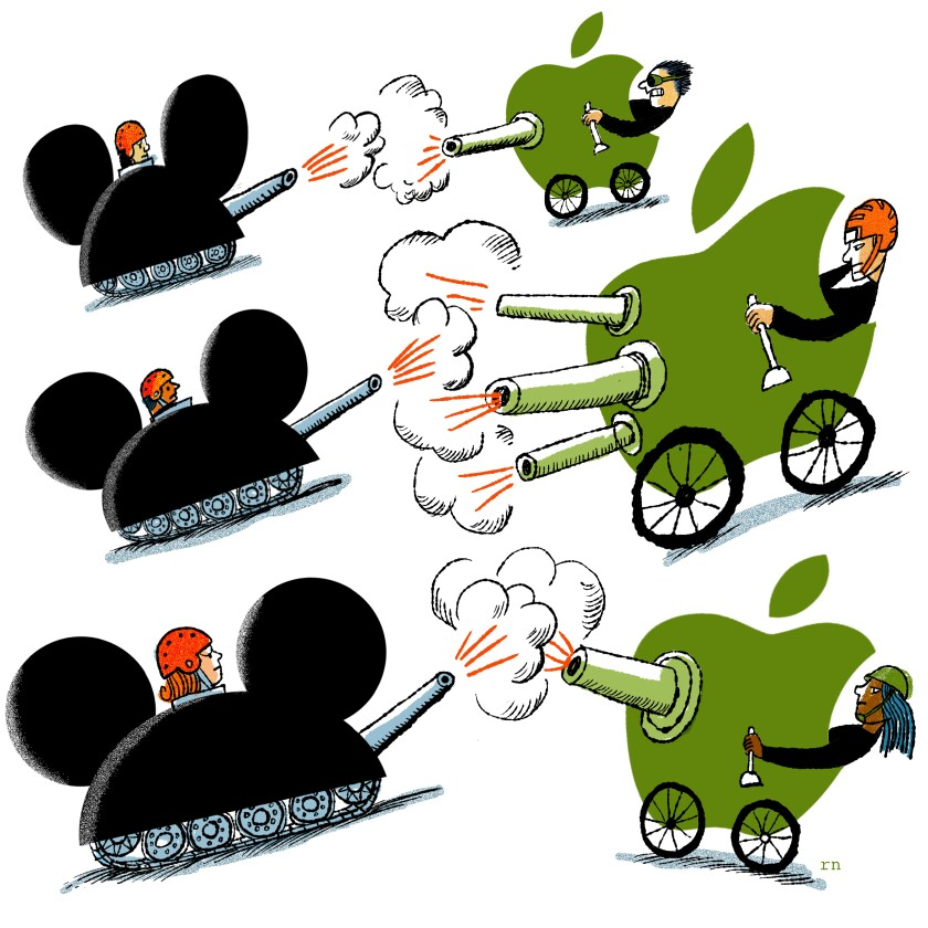 Disney and Apple are facing off in the battle to dominate the streaming wars.