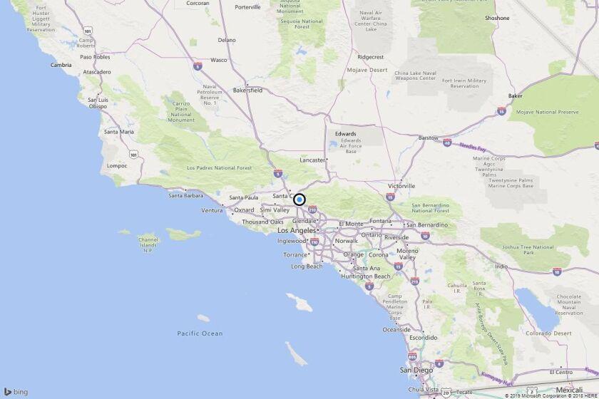 Earthquake: 2.5 quake strikes near San Fernando, Calif.