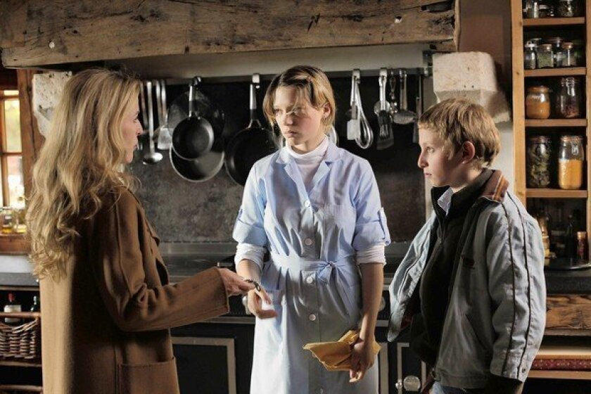"""Gillian Anderson, left, Lea Seydoux and Kacey Mottet Klein in """"Sister."""""""