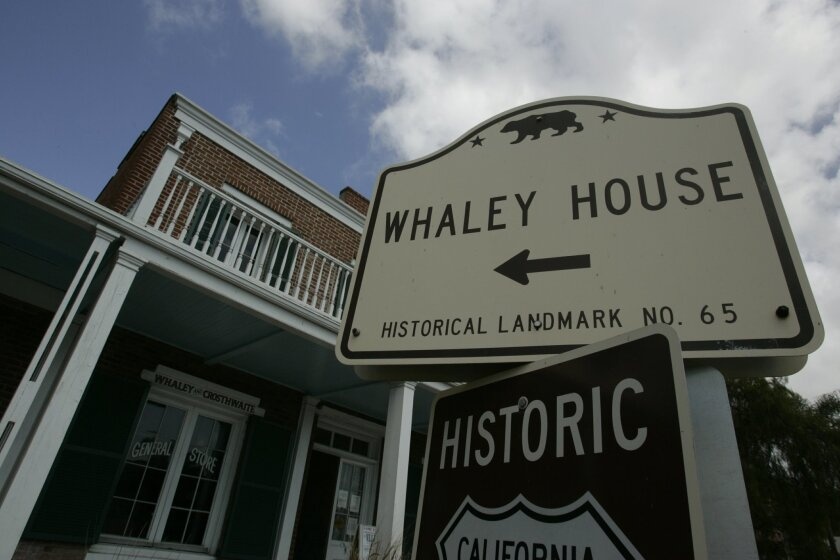 The Whaley House in Old Town San Diego.