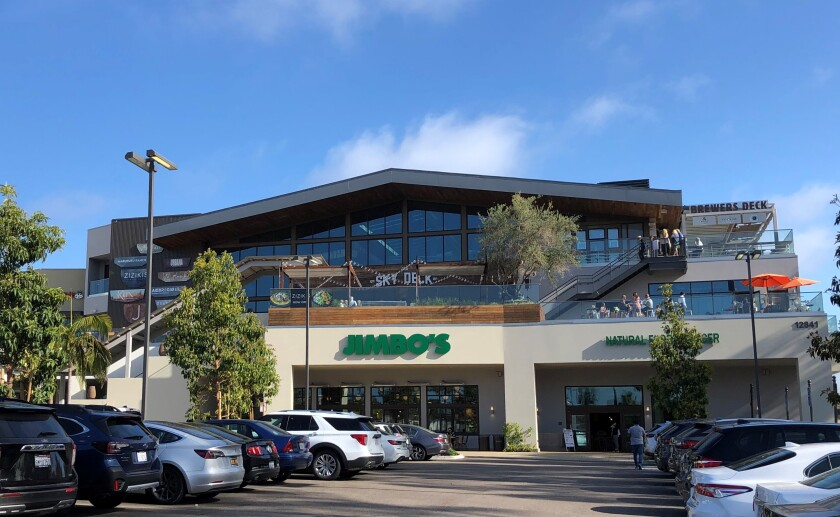 Sky Deck, a 26,000 square foot upscale food hall, above Jimbo Market at Del Mar Highlands Town Center.