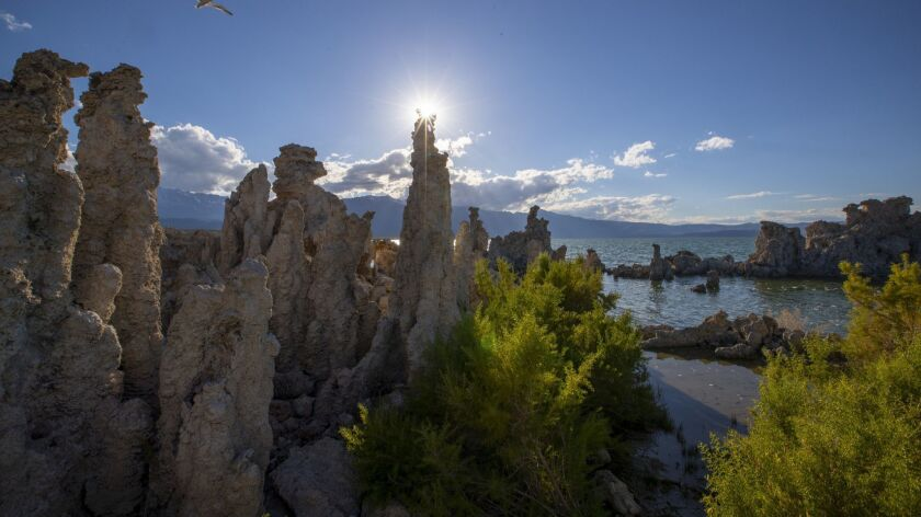 LEE VINING, CALIF. -- MONDAY, JUNE 18, 2018: Famous for its towering, craggy tufa formations, Mono