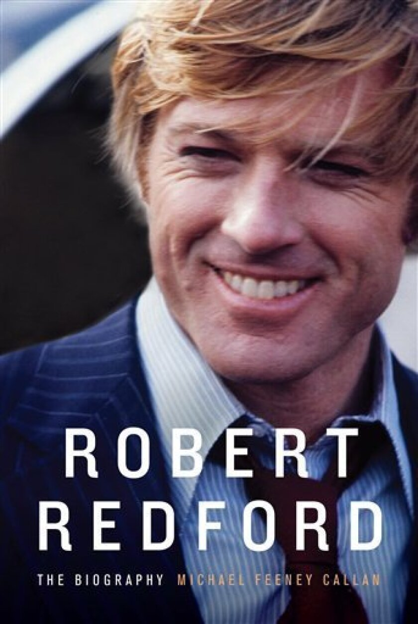 """In this book cover image released by Knopf, """"Robert Redford: The Biography,"""" by Michael Feeney Callan, is shown.  (AP Photo/Knopf)"""