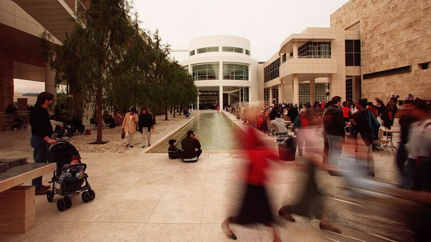 Visitors get an early look at the Getty Center two days before its official public opening in December 1997. Twenty years later, architect Richard Meier looks back.