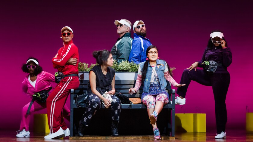 The cast of La Jolla Playhouse's new musical 'Miss You Like Hell.'