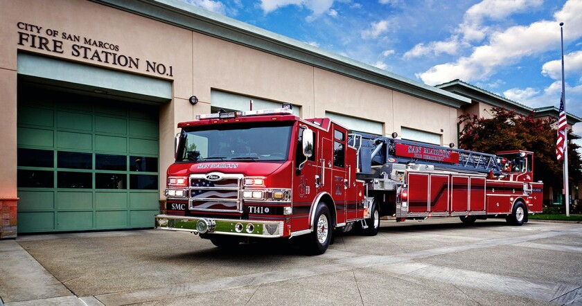 San Marcos Fire Department received the highest rating from an independent insurance evaluator.
