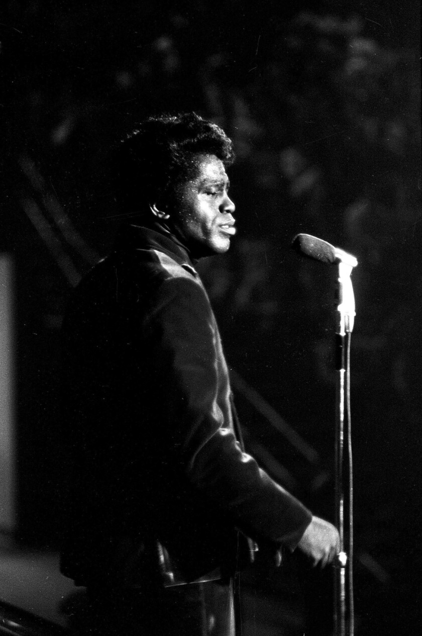 James Brown, shown here in 1967, was one a singularly electrifying performer.