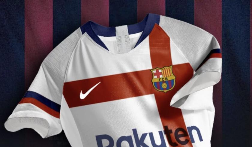 El polémico uniforme blanco del Barcelona.