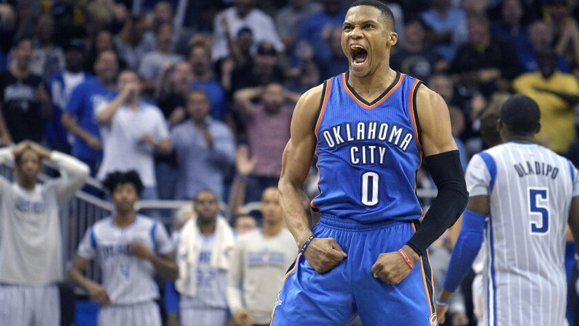 Westbrook's 48 and Durant's 43 fuel Thunder win over Magic