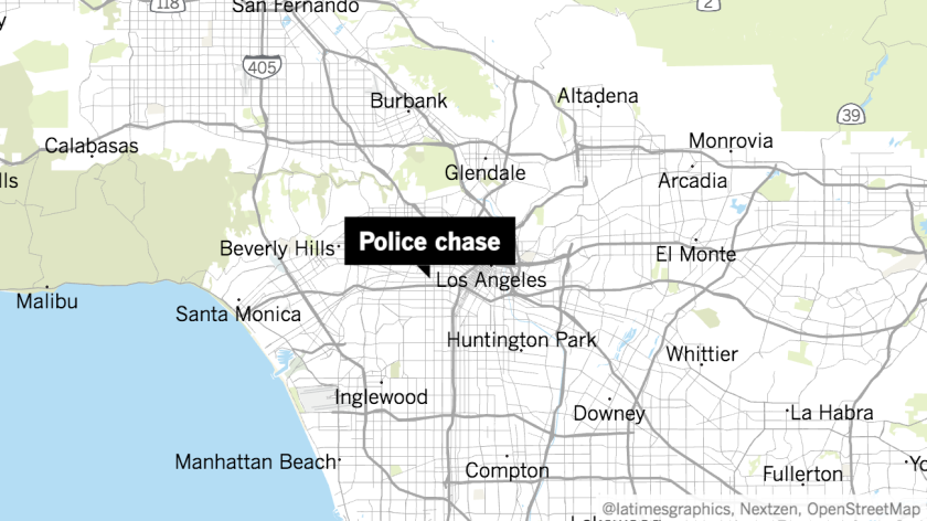 A police pursuit of about 20 minutes stretched from the Westchester area to Harvard Heights.
