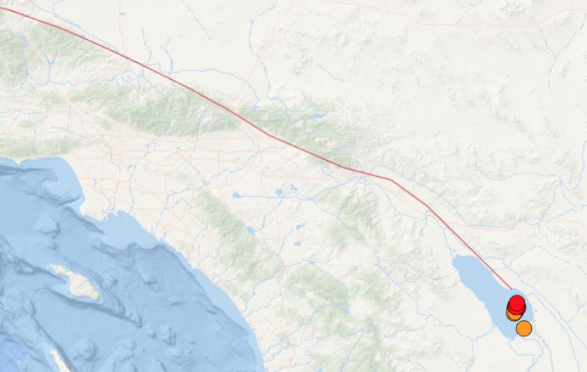 Earthquakes as large as magnitude 4.6 under the Salton Sea are raising concern.