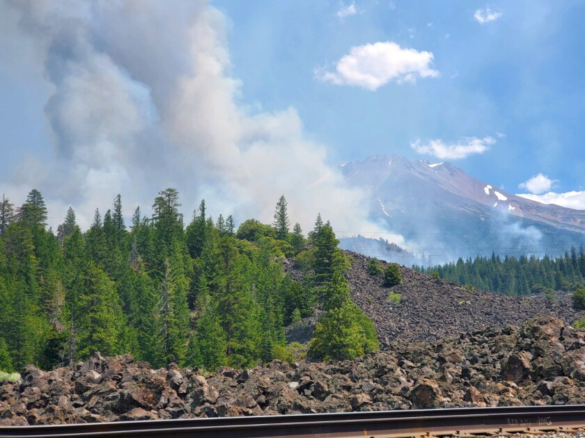 The Lava fire ignited in ancient lava beds, which consist of layers of broken rock, authorities said.